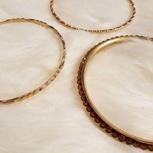 💗 Set of 3 Bangle Bracelets